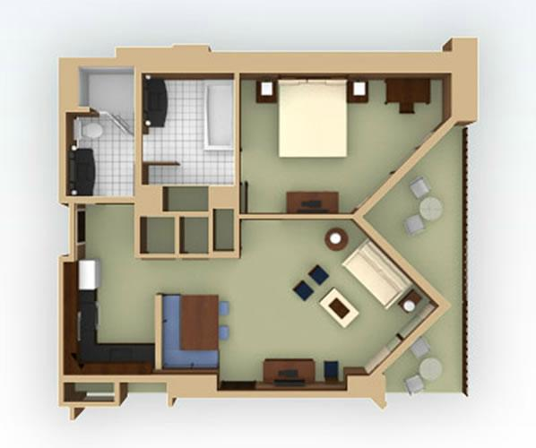 aulani 1bedroom layout