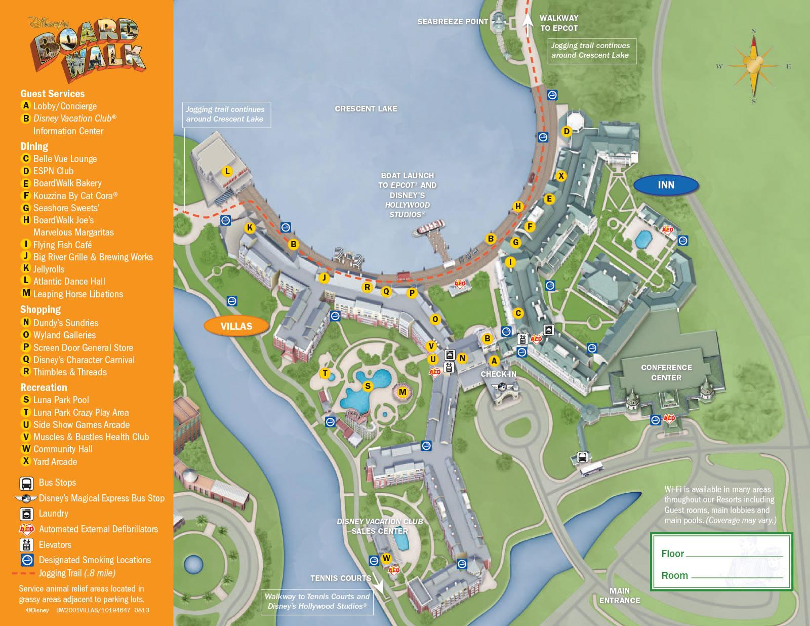 Disneys-BoardWalk-Villas-Resort-Map 1