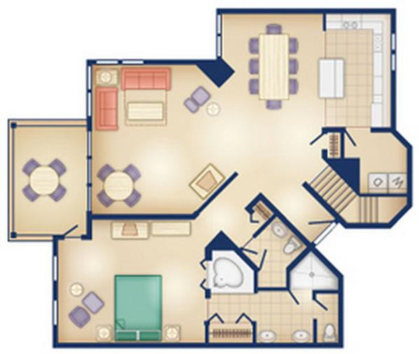old-key-west-resort grand-villa first floor layout