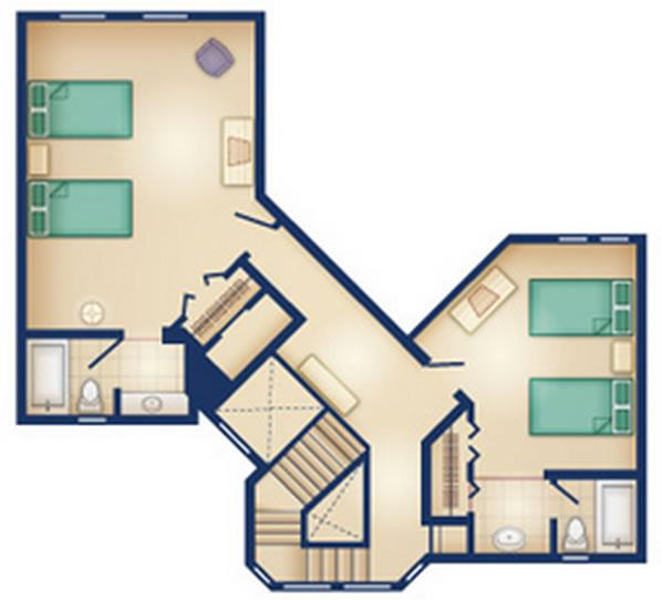 old-key-west-resort grand-villa second floor layout