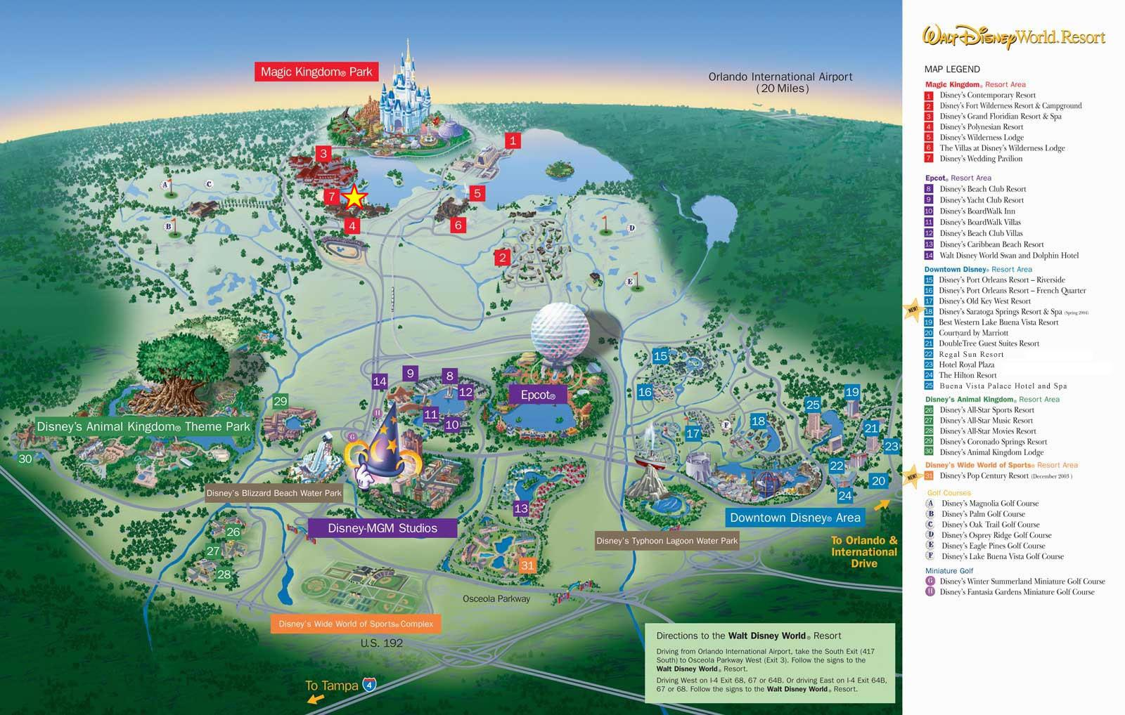 Map WDW Resort