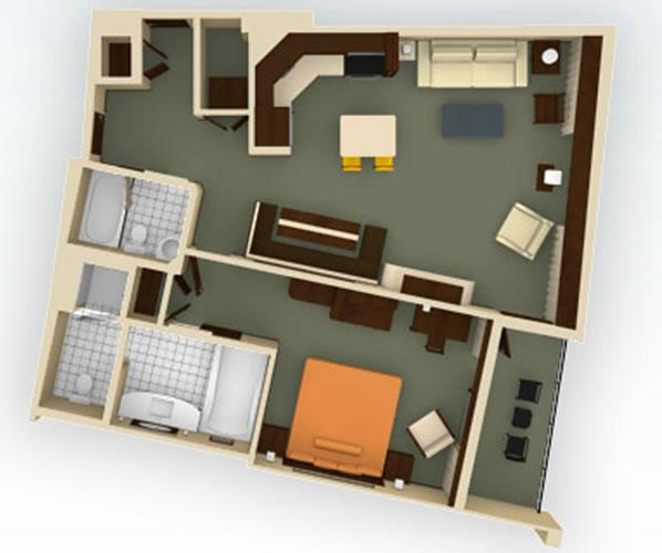 bay-lake-tower 1bedroom layout