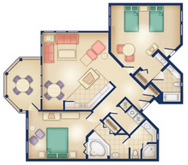 old-key-west-resort two-bedroom layout